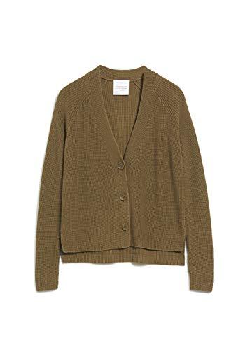 ARMEDANGELS Damen NURIAA - NURIAA - L Golden Khaki 100% Baumwolle (Bio) Strick Cardigan