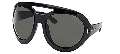 Tom Ford Gafas de Sol SERENA-02 FT 0886 Shiny Black/Grey 68/22/115 unisex