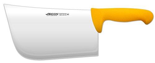 Arcos Serie 2900, Cuchillo Hachuela, Hoja de Acero Inoxidable Nitrum de 250 mm, Mango inyectado en Polipropileno Color Amarillo
