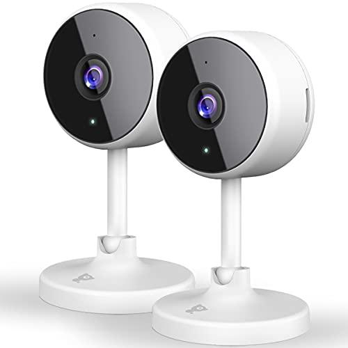 [2021 Neu]Überwachungskamera Wlan Kamera, Littlelf Wlan Überwachungskamera Innen WiFi kamera mit 2-Wege-Audio, Nachtsicht, Alexa-Unterstützung, 1080P IP Kamera für Haustier/Baby/Alter