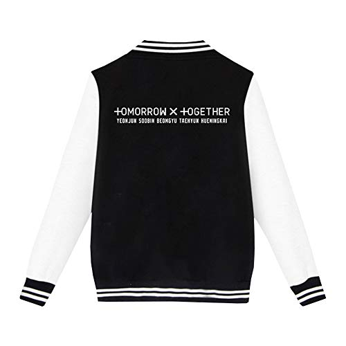 BESTHOO Tomorrow X Together Pullover Freizeit Sweatshirt Womens Short dünne Mantel New Baseball Womens Coat Women Unisex (Color : Black02, Size : L)