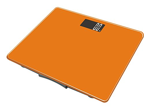 L B S Medical–Báscula electrónica de vidrio para personas, 150kg/100 g, color naranja