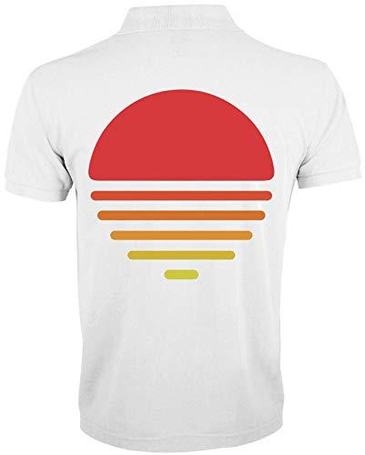 Desconocido Minimalistic Sunset Vector Graphic Polo de Hombre X-Large