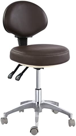 Dental Super intense SALE Mobile Chair Doctor's Stool Max 88% OFF Leather Fiber Heig Seat Micro