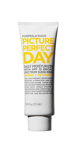 FORMULA 10.0.6 Picture Perfect Day SPF 15 Moisturizer (2.54 Fl. Oz.) Daily Face Lotion with Broad Spectrum Sunscreen to Hydrate & Protect Skin - Vegan, Paraben-Free, Sulfate-Free & Cruelty-Free