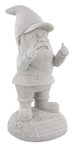 Gnometastic Gnude Gnomes - Unpainted Make Gnomes Great Again Garden Gnome Statue, 9.5' / DIY Paint Your Own Gnome