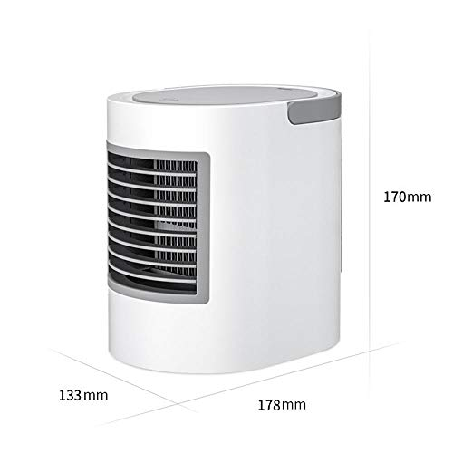 Creatieve ovale watergekoelde airconditioning ventilator Draagbaar met watergekoelde airconditioning Mini ventilator Office USB kleine airconditioner Touch drie-speed geruisloze kleine airconditioner