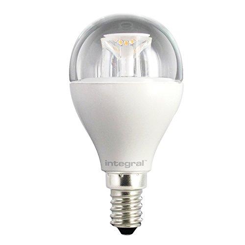 Integral LED ILP45E14C6.5D27KBEWA Ampoule LED E14 Mini Globe 6,5 W 2700 K 470 lm Dimmable Plastique/Aluminium/Nickel Brossé/Verre Blanc Chaud 8,9 x 4,5 cm