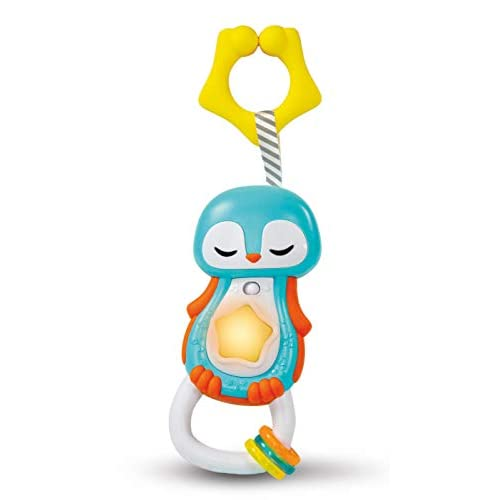 Baby Clementoni - 17331 - Sonaglino Pinguino Interattivo - Gioco Prima Infanzia Con Melodie Ed Effetti Sonori (Batterie Incluse), Bambino 3 - 36 Mesi