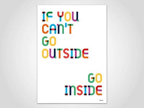 Inside — Poster, Kunstdruck, skandinavisch, Bilder, Zu Hause Motivation, lustige bunte Poster, Deko, Papier, Kunstdrucke, Sommer, Frühling