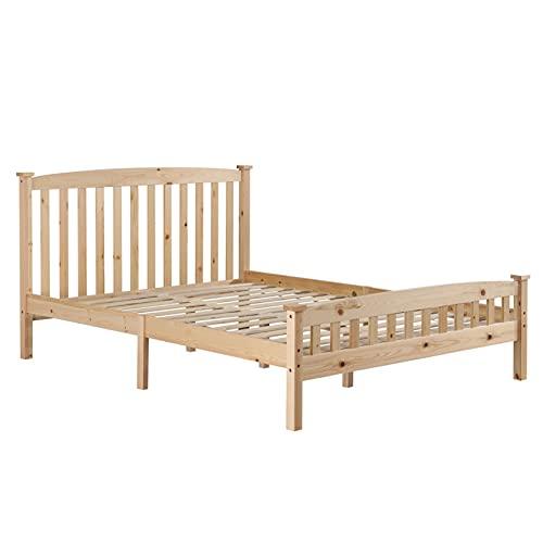 Vertical Strip Bed Varnish Queen for Superior Comfort & Durability