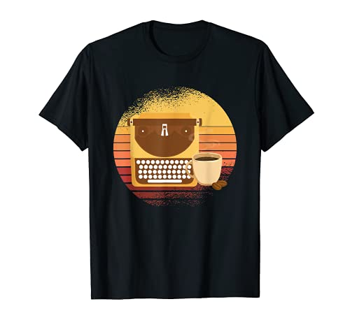 Typwriter and Coffee Sunset T-shirt for Men or Women