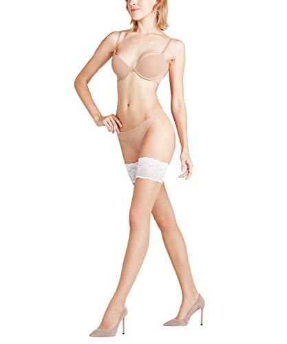 FALKE Damen Stay Ups Invisible Deluxe 8 Denier - Ultra-Transparente, 1 Paar, Beige (Brasil/White 992), Größe: L