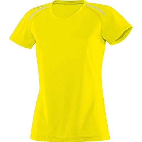 JAKO Femme Run T-Shirt, Jaune néon, 34–36