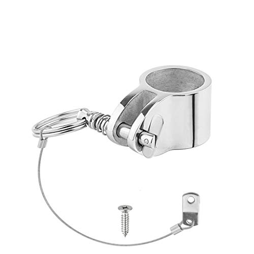 YDSHOLL Stainless Steel 316 Jaw Slide Clamp With Quick Release Pin 1 Inch 25mm Bimini Top Hinged Slide Fitting Hardware Marine Boat
