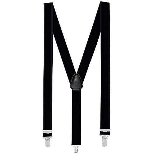 Boland 00590 - Hosenträger schwarz, one size, verstellbar, elegant, 20er Jahre, Gatsby, Karneval, Halloween, Fasching, Mottoparty, Verkleidung, Theater, Accessoire