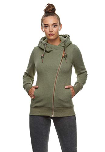 Ragwear Zipper Damen ANEZKA 2111-30043 Grün Dark Olive 5010, Größe:S