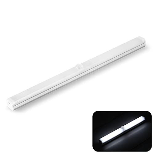 YDHNB USB Recargable Luz Armario LED con Sensor de Movimiento LED Lámpara Nocturna con Tiras Magnéticas Pegadas para Amario Garaje Gabinete Escalera (1 Pack),Cold White,150mm