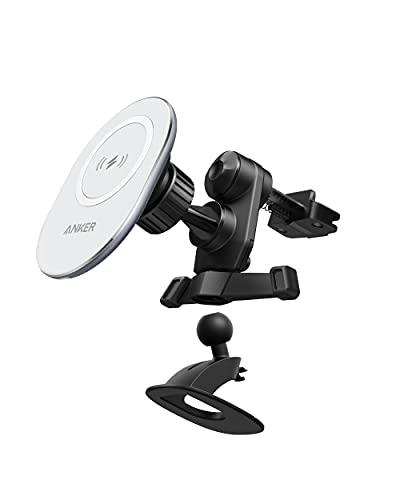 Anker PowerWave Magnetic Car Charging Mount 車載ホルダー カーマウント スマホホルダー ワイヤレス充電器 エアコン吹き出し口取り付け iPhone 12 シリーズ専用 7.5W出力