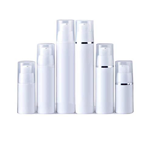 FIRMLEILEI 10 unids vacío Botella de Bomba sin Aire plástico contenedor Blanco cosméticos loción al vacío Botellas de emulsión Recargable Tubo 15ml 30ml 50ml Botella contenedor