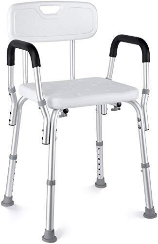 HAIRBY Duschstuhl Badehocker, mit Verstellbarer medizinischer Badesitz, für Behinderte, Senioren...
