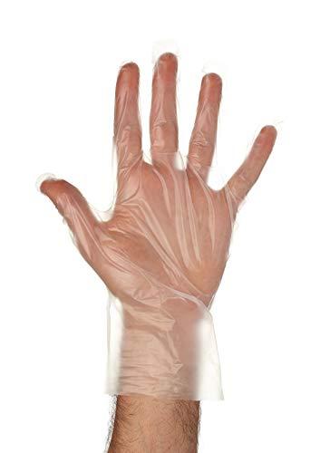 Embossed - Food Handling Prep PE Polyethylene Disposable Gloves 1000