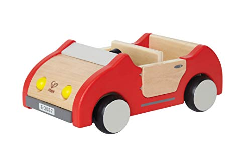 Hape Dollhouse Family Car | Wooden Dolls House Car Toy, Push Vehicle Accessory for Complete Doll House Furniture Set