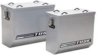 Tusk Aluminum Panniers Large Silver