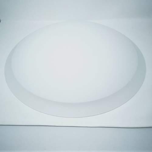 Lampenglas Ersatzglas halb für Deckenleuchte Glas weiß matt Durchmesser 40cm