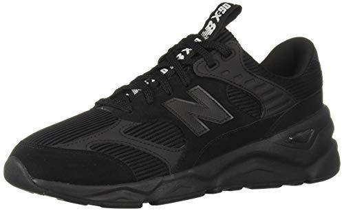 New Balance Hombre Zapatillas de Deporte de Gamuza X-90, Negro