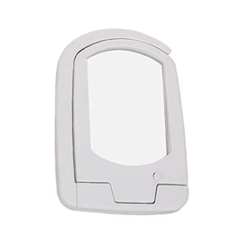 PINH - Lupa larga con 3 luces LED y lupa de iluminación multifuncional plegable para personas mayores, color blanco app.12.8 x 8.7 x 1.9cm