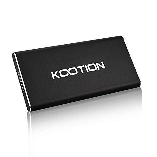 KOOTION Disque Dur SSD Externe 60 Go Ultra-Mince Portable USB 3.0 Solid State Drive en Alliage d'aluminium Étanche Haute Vitesse Jusqu'à 400 MB/s pour PC, Desktop, Laptop, MacBook