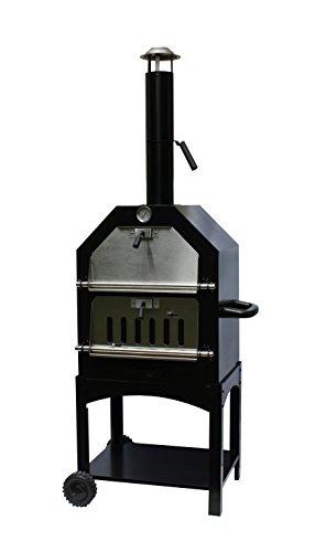 Buschbeck Gartengrillkamin, Pizzaofen Italia, schwarz, 38 x 51 x 160 cm, 90088.000