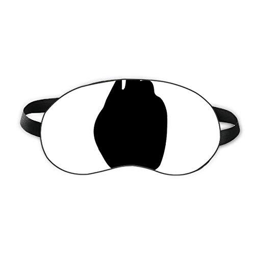 FairytaleMM Masque Contour Des Yeux Doux En Soie Double /Élastique Band Band Eyeshade Couverture Bandeau Pour Les yeux band/és Pour Le Bureau De Voyage De Vol-Noir