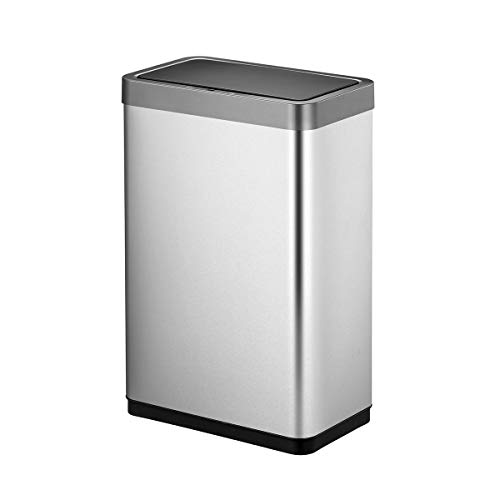 EKO Mirage X 68 Liter / 17.9 Gallon Motion Sensor Trash Can, 68-Liter, Brushed Stainless Steel Finish