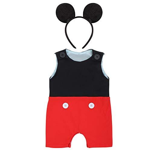 Conjunto de ropa de Mickey para bebé niño con diseño de tarta de primer cumpleaños de Gentleman