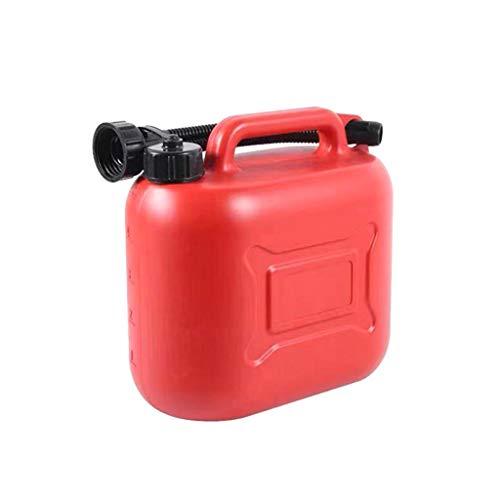 Plastic Petrol Can Brandstoftank Benzine Diesel Spare Olie Vat Met Snorkel (Color : Red, Size : 5L)