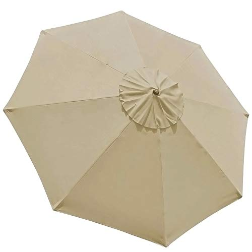 EliteShade 9ft Patio Umbrella Market Table Outdoor Deck Umbrella Replacement Canopy Cover (Canopy Only)(Beige)