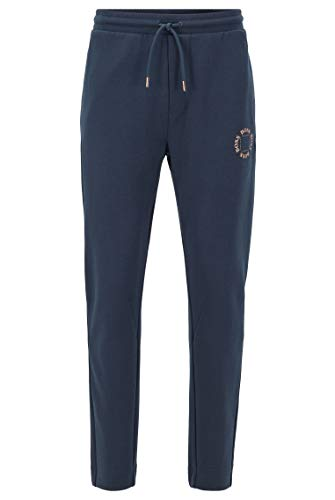 BOSS Herren Halboa Circle Regular-Fit Jogginghose mit mehrlagigem Logo in Metallic-Optik