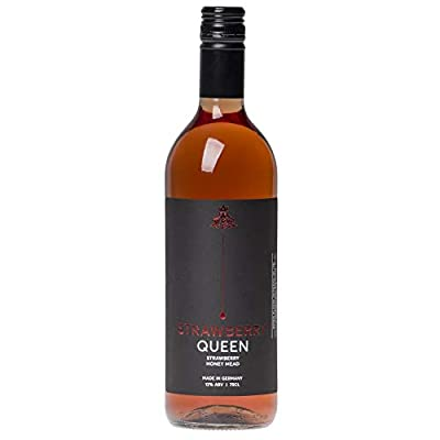 Premium Strawberry Traditional Honey Mead (Drink Hot or Cold) Strawberry Queen Mead Wine - 750ml