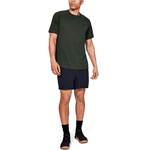 Under Armour Tech 2.0 tee Novelty Camisa Manga Corta, Hombre, Verde, XL
