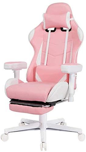 SJZLMB Racing silla for juegos estilo, Silla ergonómica de la computadora del escritorio ajustable 360 giratorio Heavy Duty Butaca for video juego con soporte lumbar apoyo for la cabeza del reposapi