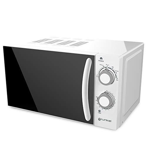 Grunkel - MW-20SG - Microondas blanco de 20 litros de capacidad y 6 niveles de potencia. Función descongelación y temporizador hasta 30 minutos - 700W - Blanco