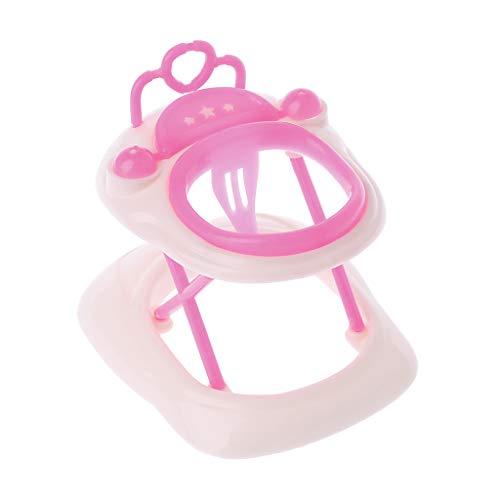 lijun Nuevo Andador de plástico Rosa para casa de muñecas Barbie Accesorios en Miniatura de casa de muñecas