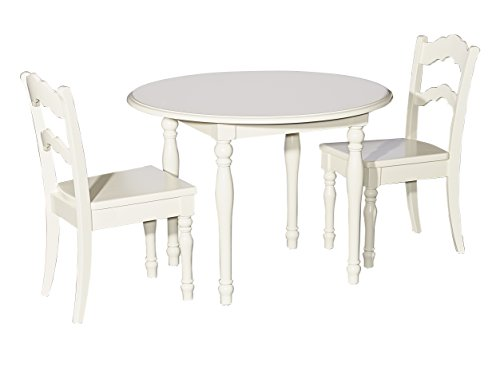 Powell Furniture Table and 2 Chairs, Cream Youth,