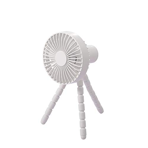 NNDQ Mini Handheld Personal Portable Fan, with Flexible Tripod, Ultra Quiet, 3 Speed, 360° Rotatable, for Travel Office Stroller Bike Car Seat