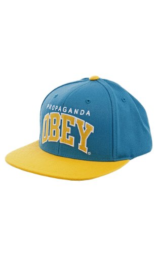 Obey - Casquette Snapback Homme Throwback - Aqua/Gold