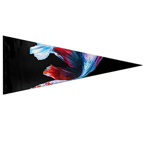 Fanion extérieur Betta poisson combattant siamois poisson Betta Splendens décor personnalisé drapeaux de jardin classique 12 X 30 pouces doux et durable pour les drapeaux extérieurs et intérieurs dé