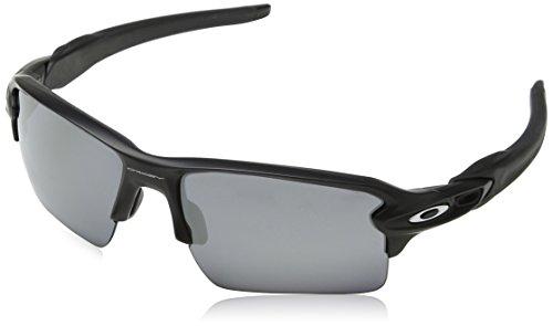 Oakley Men's OO9188 Flak 2.0 XL Rectangular Sunglasses, Matte Black, 59 mm