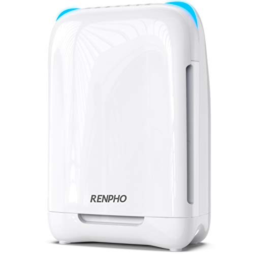 RENPHO Air Purifier for Home Large Room Allergies and Pets Hair, H13 HEPA Filter Air Purifier for Large Room, Filters Bacteria, Pollen, Smoke, Dust, Pet Dander, Eliminates Germs, Mold, Odors, No Ozone